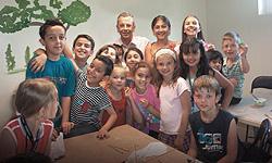Die Kinder der gewobau-Bastelgruppe